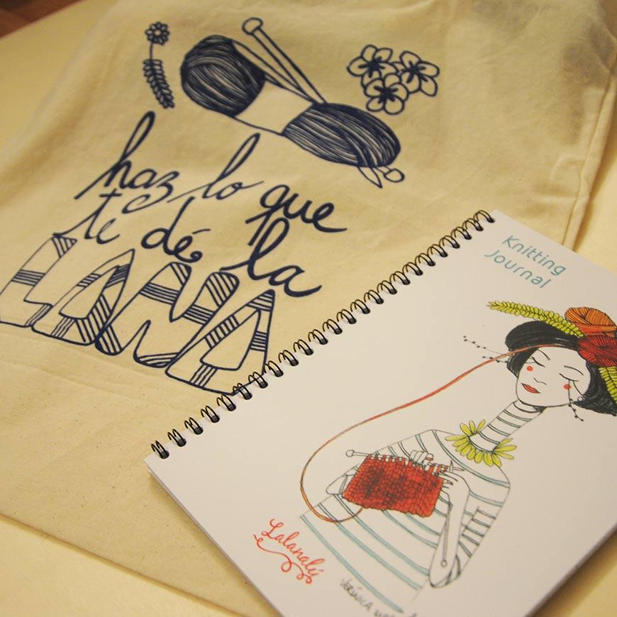 portada-veronica-maraver-knitting-journal-tote-bag-lalanalu