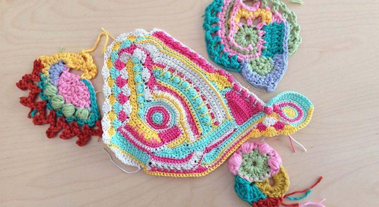 Haz lo que te dé la lana con la técnica Free Form Crochet - Lalanalú