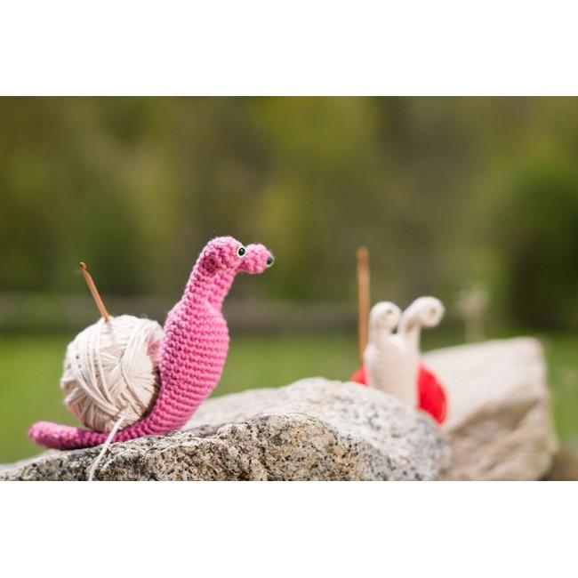 Patrón amigurumi Caracol a la lana