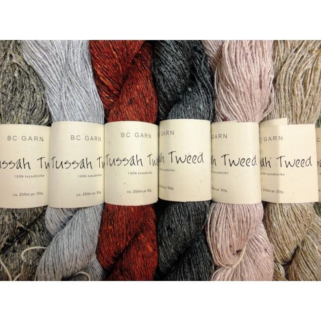 Tussah Tweed, seda salvaje para tejer de BC Garn