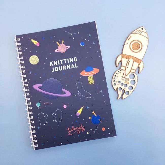 Knitting Journal Lalanalú + calibrador de cohete
