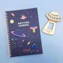 Knitting Journal Lalanalú + calibrador de nave espacial