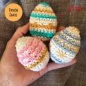 Patrón: Huevos de Pascua a ganchillo