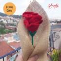 Patrón: Rosa de ganchillo