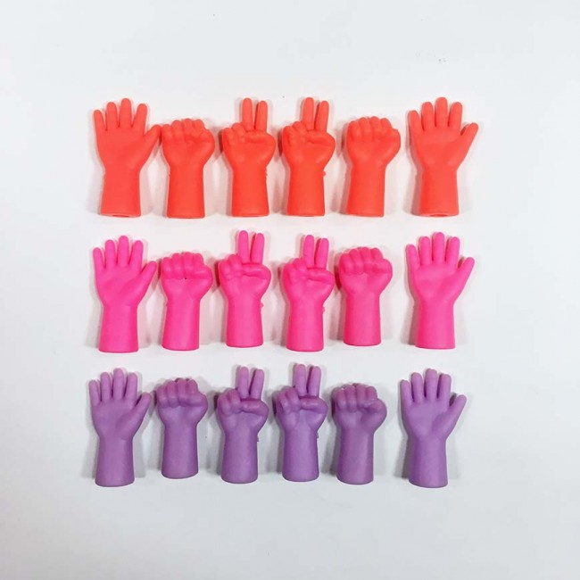 Protectores con forma de manos