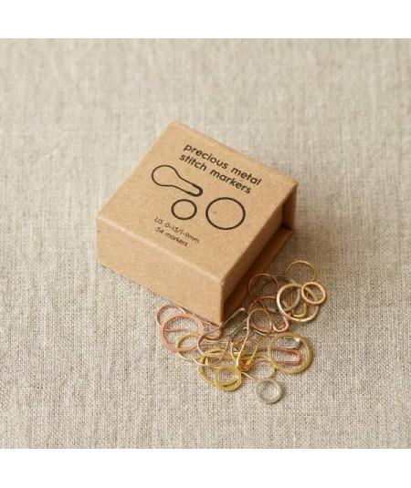 Marcadores de puntos de acero en colores de los metales preciosos de Cocoknits