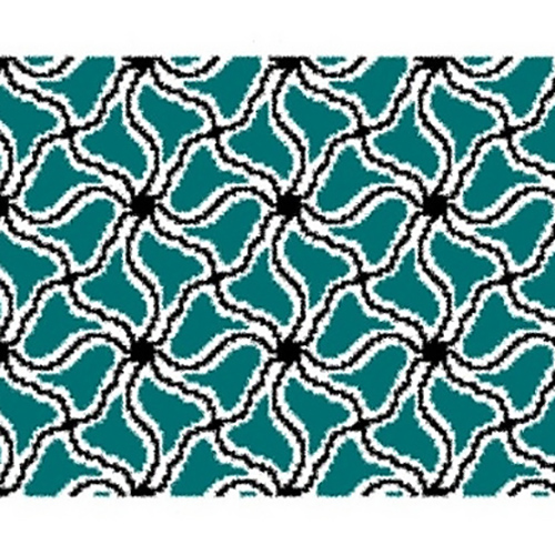 Spider's Web Flower Tapestry Crochet Chart, vía RuskaM Ravelry