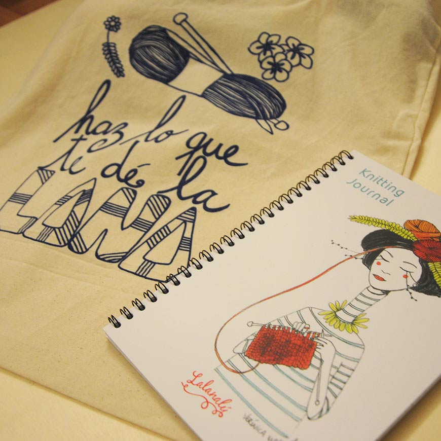 portada-veronica-maraver-knitting-journal-tote-bag-lalanalu