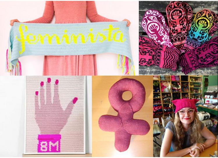 #8M: Alza las agujas con estos patrones reivindicativos