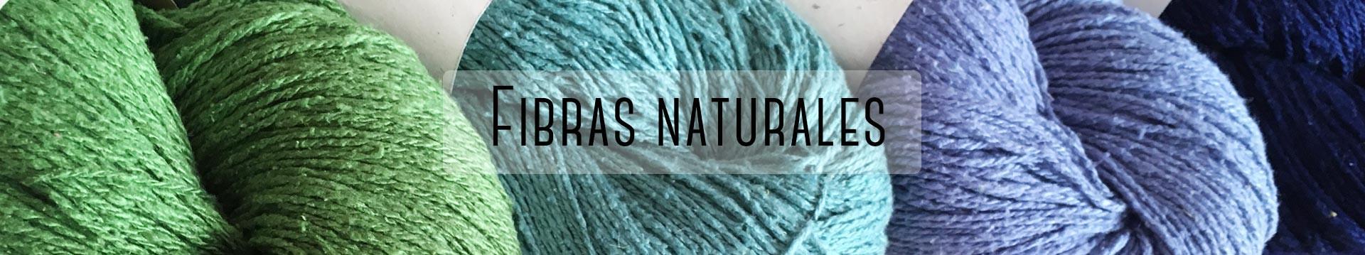 hilos y fibras naturales para tejer